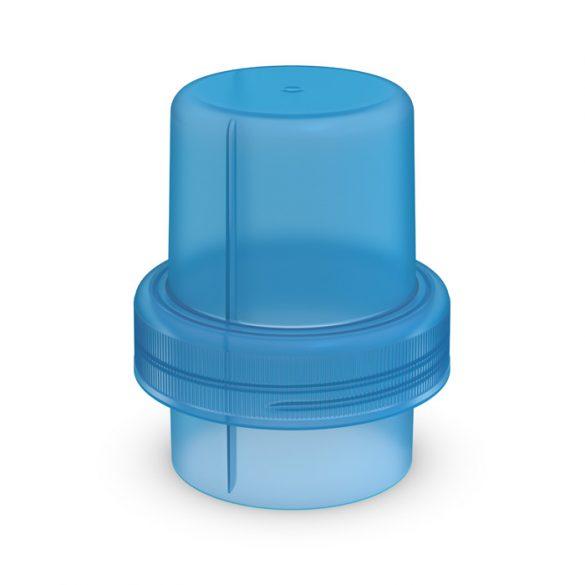Dosing cap for softener/washing gel blue